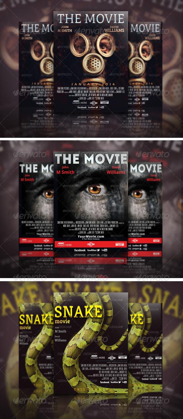 Movie Poster Template Bundle 02