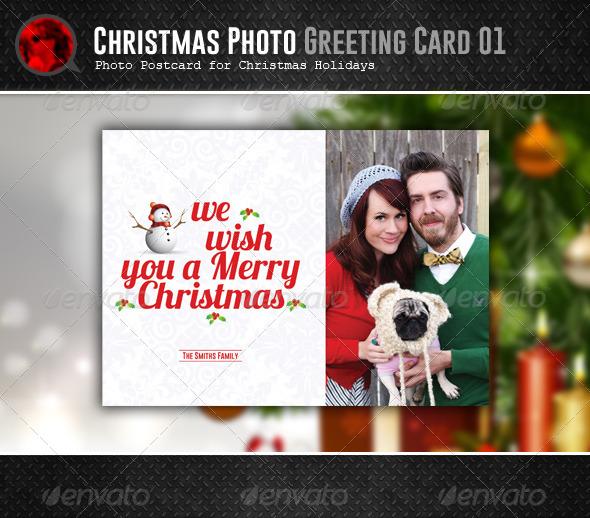 GraphicRiver Christmas Postcard 01 6109808