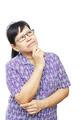 Asian senior woman thinking something - PhotoDune Item for Sale