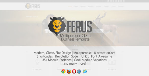 ThemeForest Ferus Clean Multipurpose Joomla Template 6109809