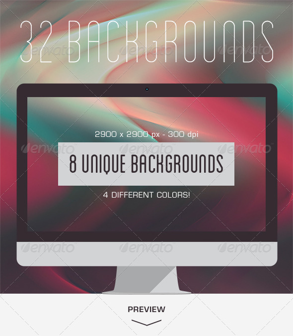 GraphicRiver 32 Aurora Backgrounds 6110279