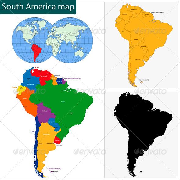 GraphicRiver South America Map 6110625