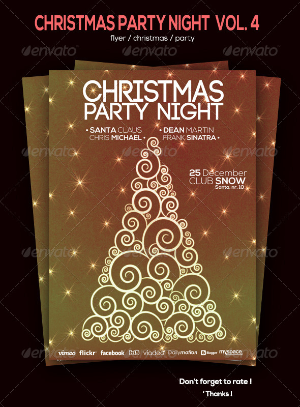 GraphicRiver Christmas Party Flyer Volum 4 6085053