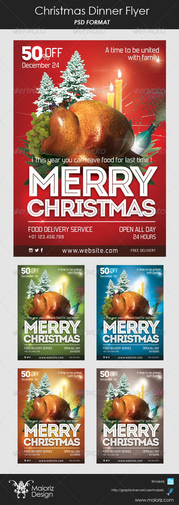 christmas dinner flyer graphics designs templates