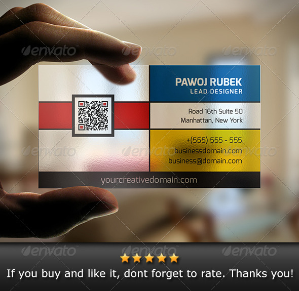 GraphicRiver Creative Transparent Business Card 6111252