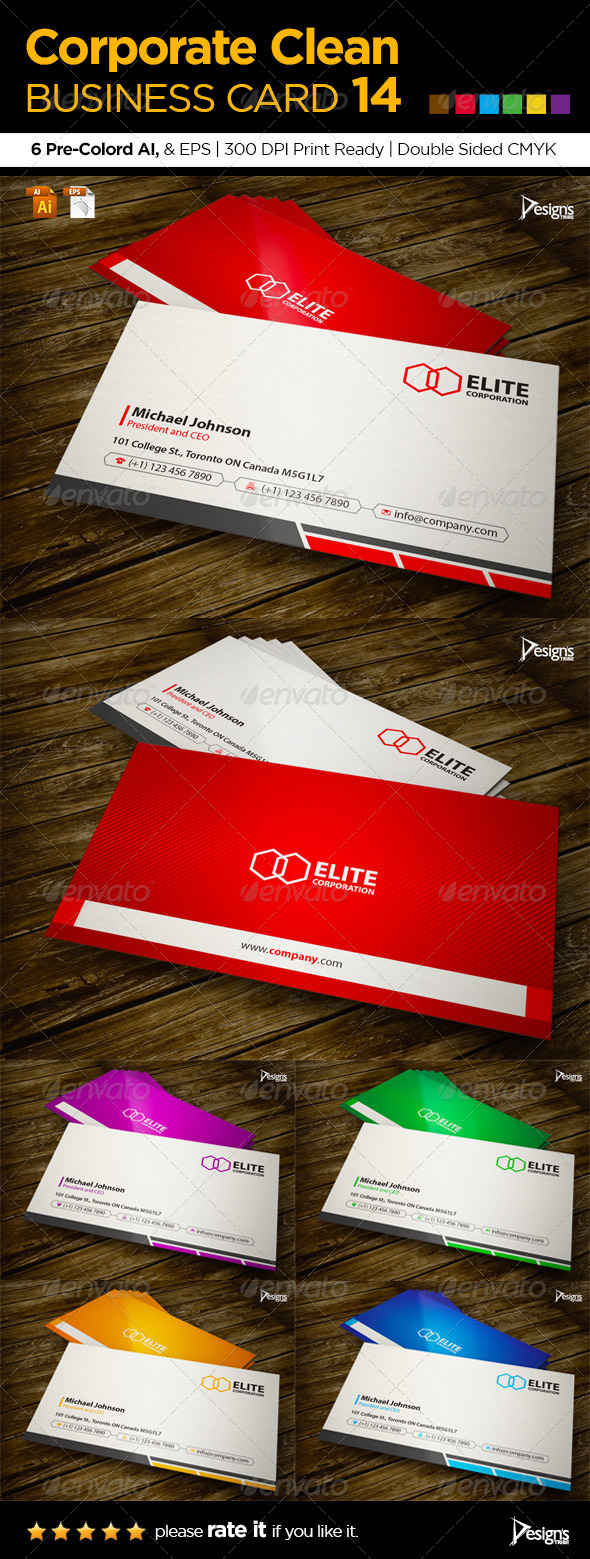 GraphicRiver Corporate Clean Business Card 14 6111271