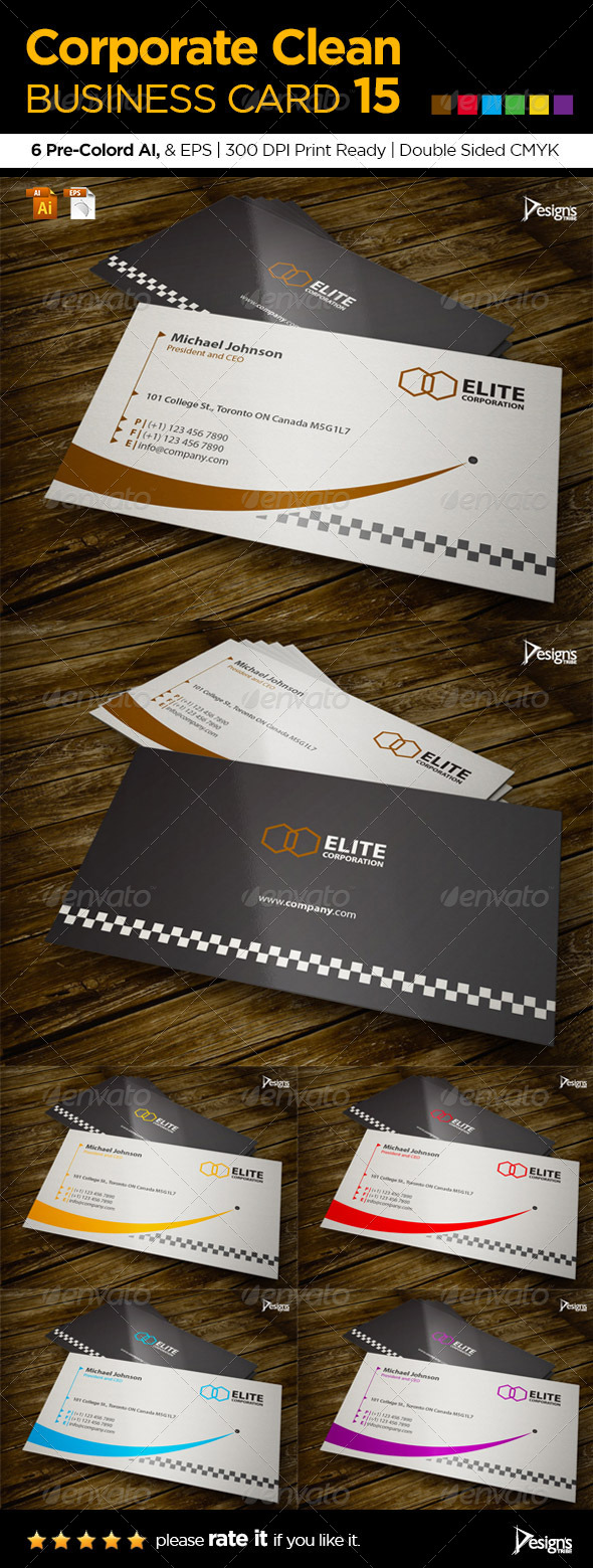 GraphicRiver Corporate Clean Business Card 15 6111385