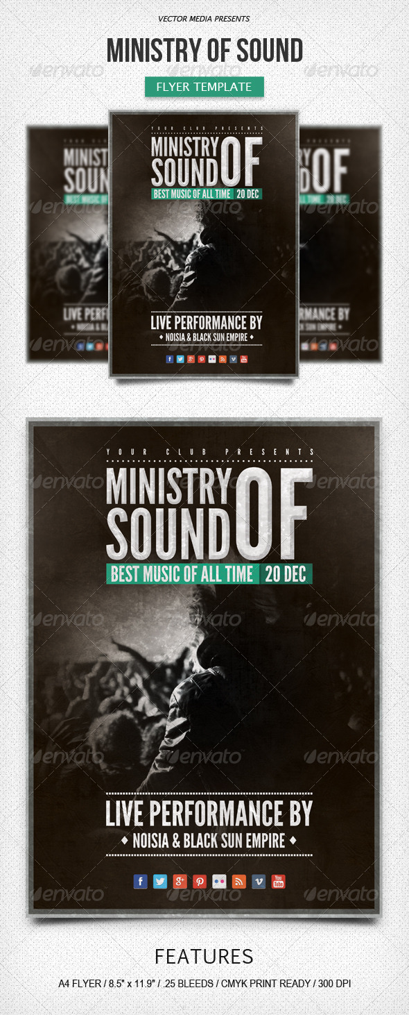 GraphicRiver Ministry of Sound Flyer 6111393
