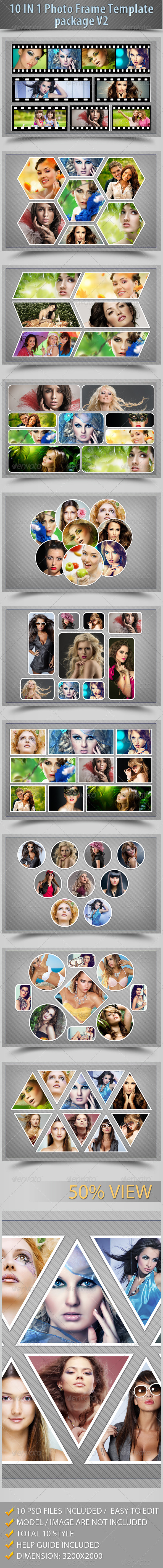 GraphicRiver 10 In 1 Photo Frame Template Package V2 6111644