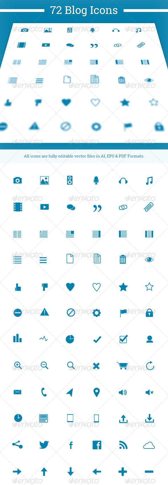 GraphicRiver 72 Blog Icons 6076655