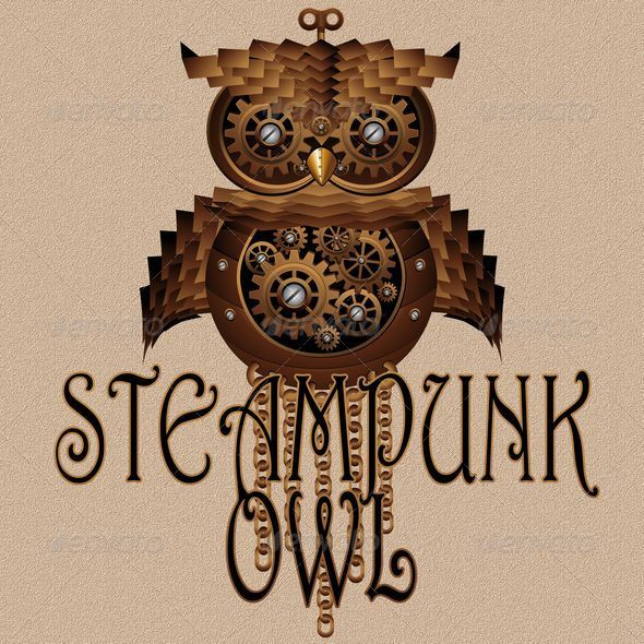 GraphicRiver Steampunk Owl Style Mechanical Toy 6112210