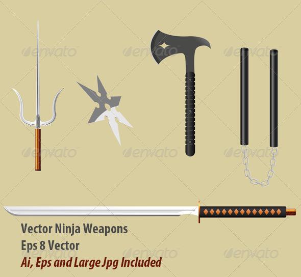 GraphicRiver Ninja Equipment 6109464