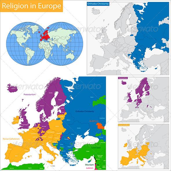 GraphicRiver Predominant Religious in Europe 6112240