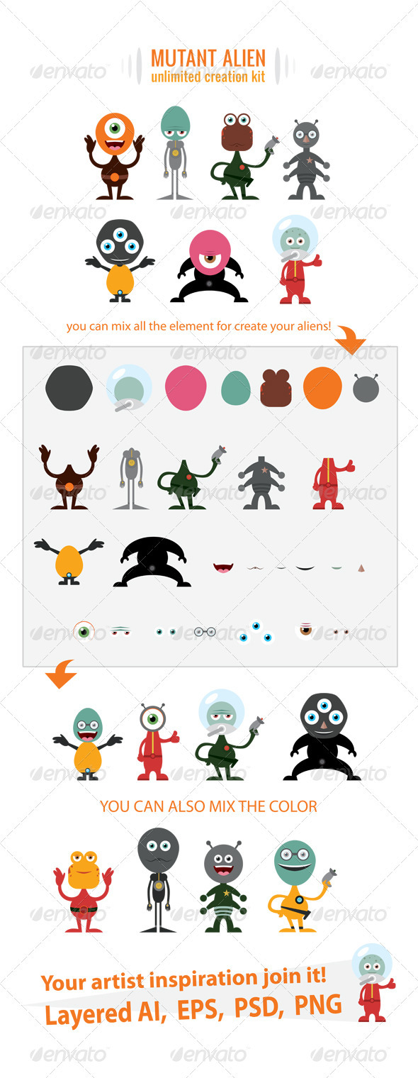 Alien Creation Kit - Monsters Characters