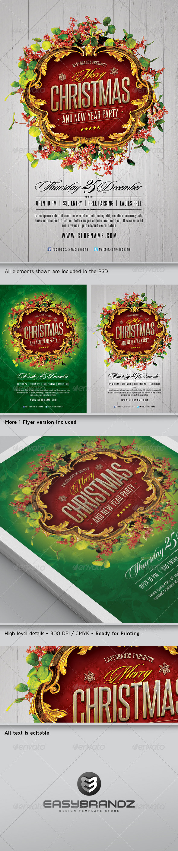 GraphicRiver Merry Christmas Flyer Template 6112563