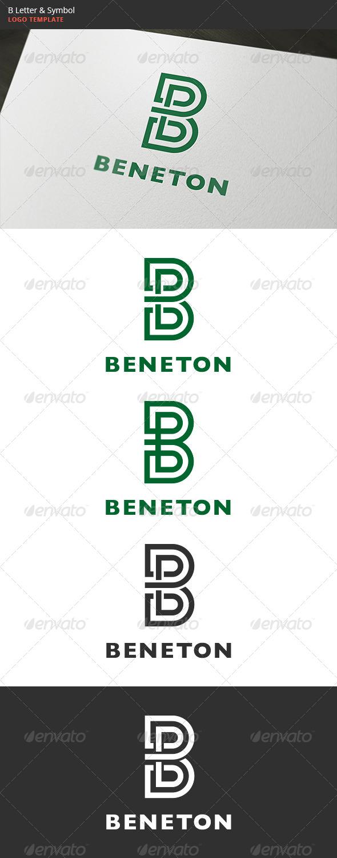GraphicRiver B Letter & Symbol Logo 6112697