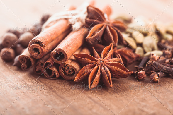 Collection of spices - Stock Photo - Images