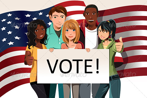 GraphicRiver Voting People 6114277