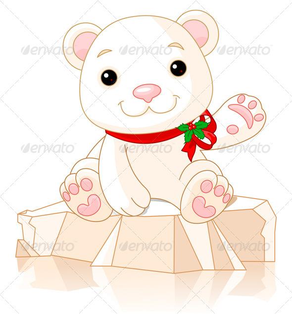 GraphicRiver Christmas Polar Bear 6114789