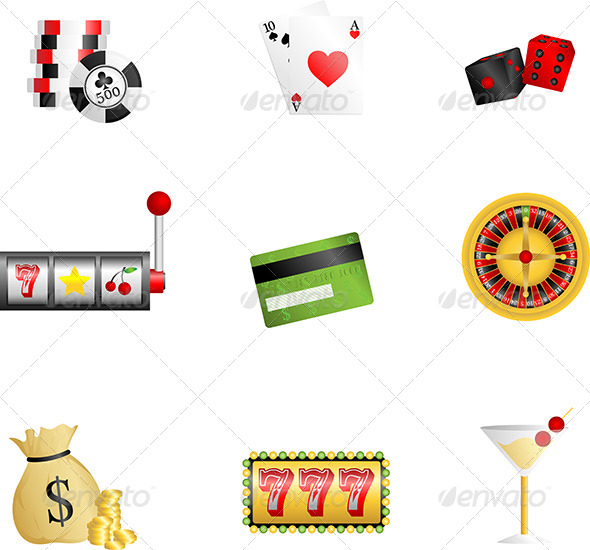 GraphicRiver Gambling Icons 6114845