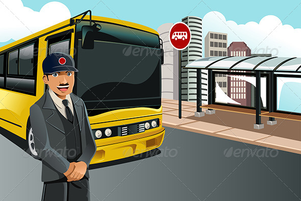 GraphicRiver Bus Driver 6115073