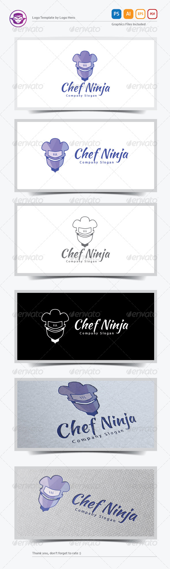 GraphicRiver Chef Ninja Logo Template 6115075