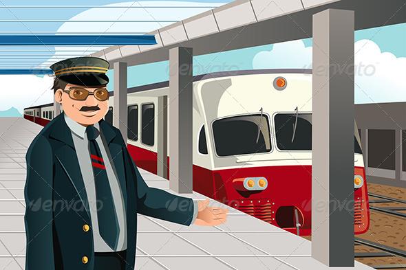 GraphicRiver Train Conductor 6115119