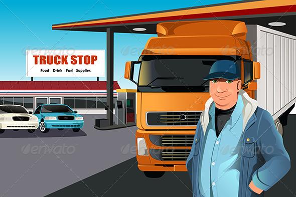 GraphicRiver Truck Driver 6115348