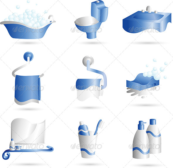 GraphicRiver Bathroom Icons 6115350