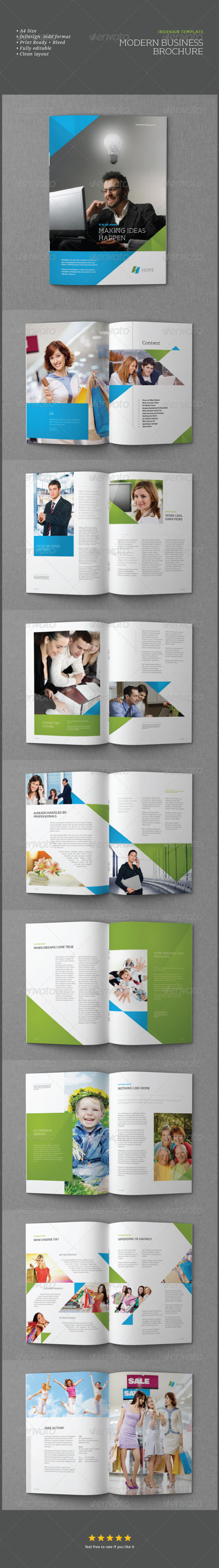 InDesign Modern Business Brochure Template - Corporate Brochures