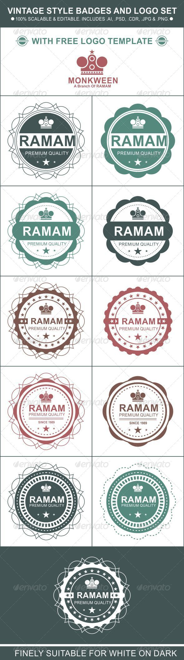 GraphicRiver Vintage Style Badges and Logo Set 6115934