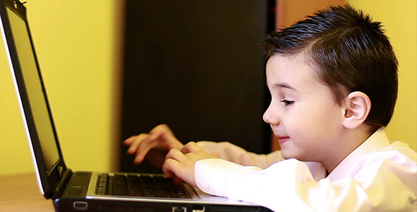 Little Boy at Computer 2