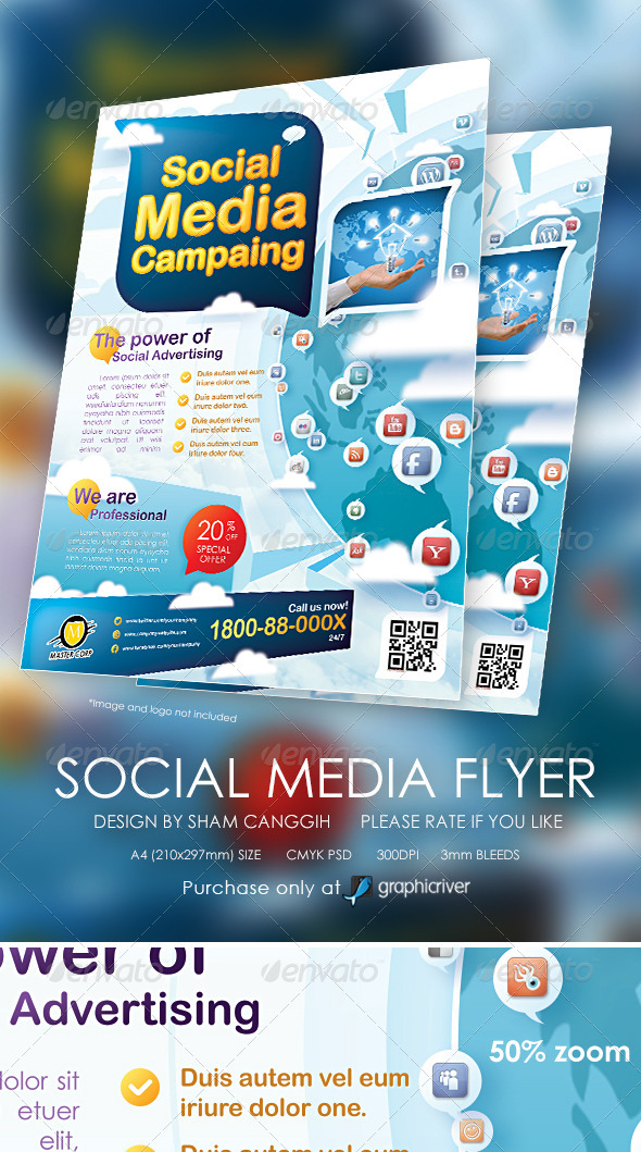 GraphicRiver Modern Social Media Flyer Magazine Ads 6116394