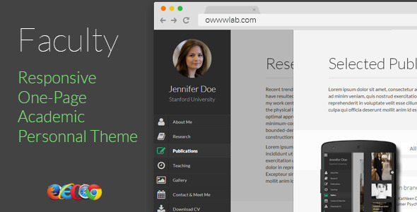 ThemeForest Faculty Responsive Academic Personal Profile 6093859