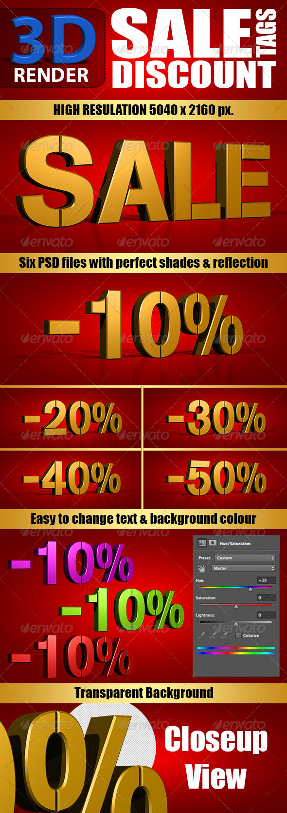 GraphicRiver 3D Render Sale & Discount Tags 6116869