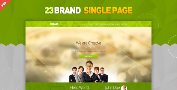 ThemeForest 23 Brand PSD 6093587