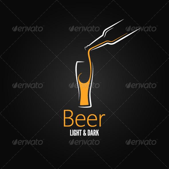 GraphicRiver Beer Glass Design Menu Background 6117372