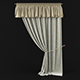 Curtain with pelmet