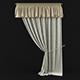 Curtain with pelmet