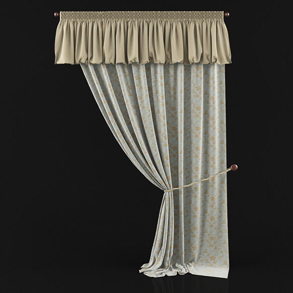 3DOcean Curtain with pelmet 6117760