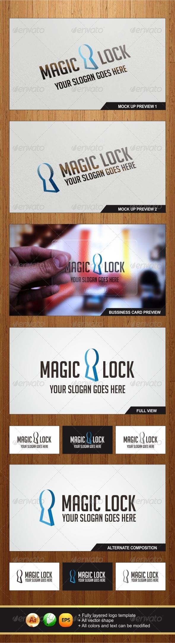 GraphicRiver Magic Lock Logo 6117813