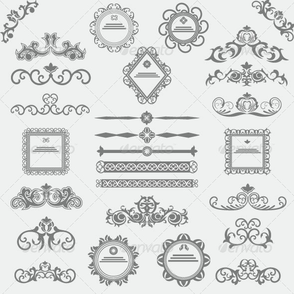GraphicRiver Vintage Design Elements 83 6118081