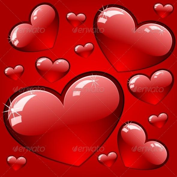 GraphicRiver Hearts Background 6118122