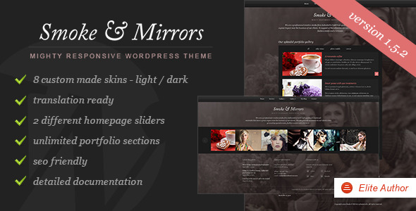 Smoke & Mirrors Wordpress Theme -