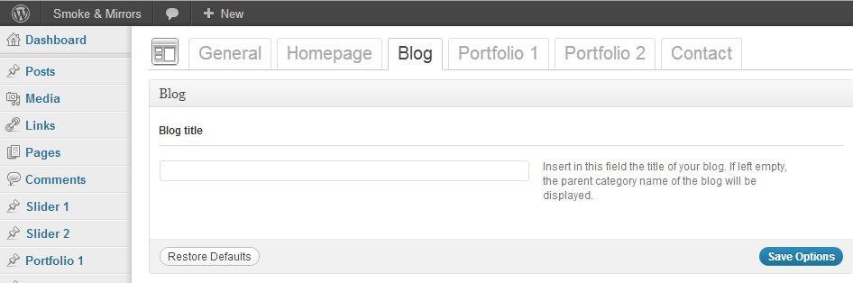 Smoke & Mirrors Wordpress Theme -