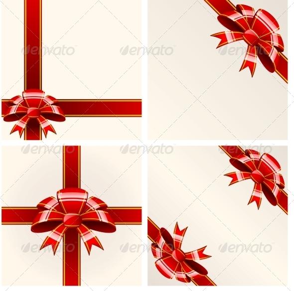 GraphicRiver Red Bow with Ribbons 6118176