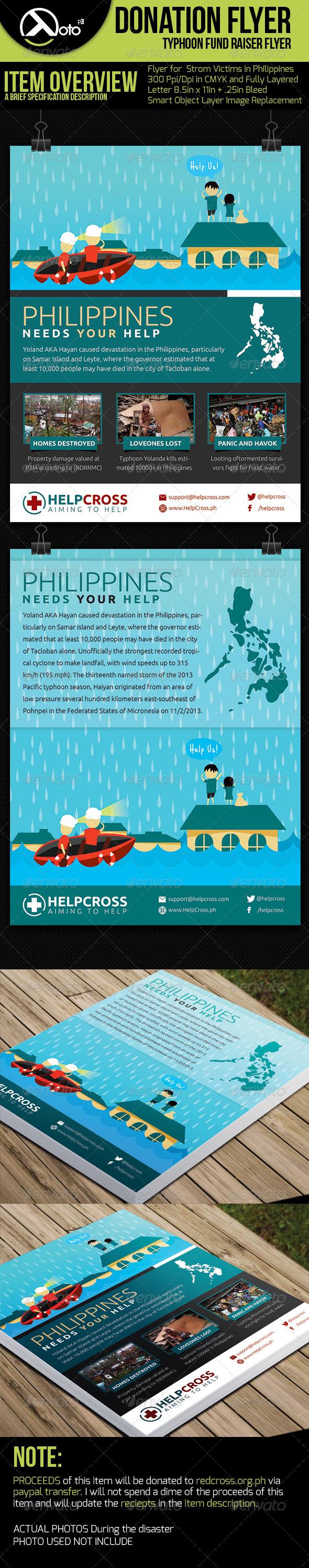 GraphicRiver Typhoon Victim Donation Flyer 6118190
