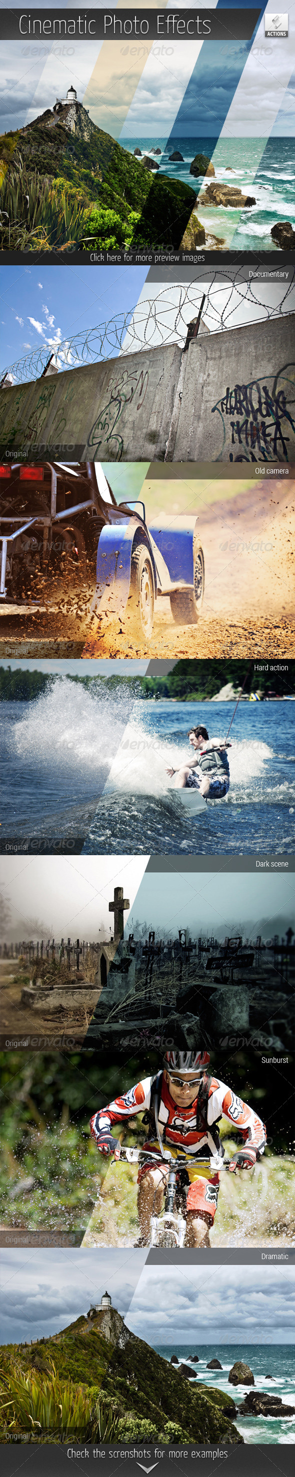 GraphicRiver Cinematic Photo Effect Actions 6103422