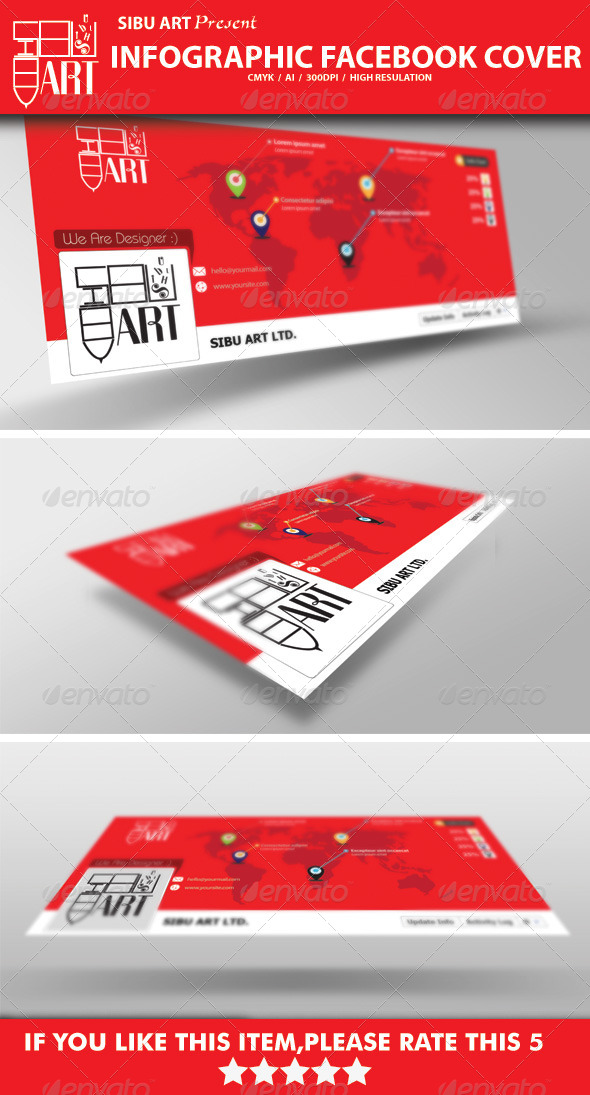 GraphicRiver Infographic Facebook Cover 6118319