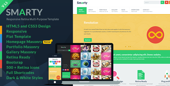 Smarty - Responsive HTML5 Template